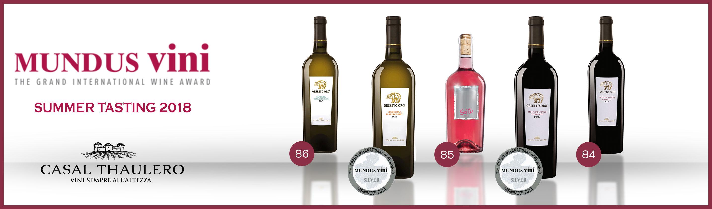 Premi Mundus Vini Summer Tasting 2018